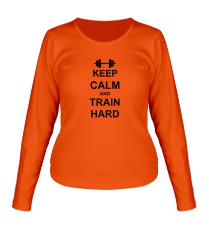 Женский лонгслив «Keep calm and train hard»