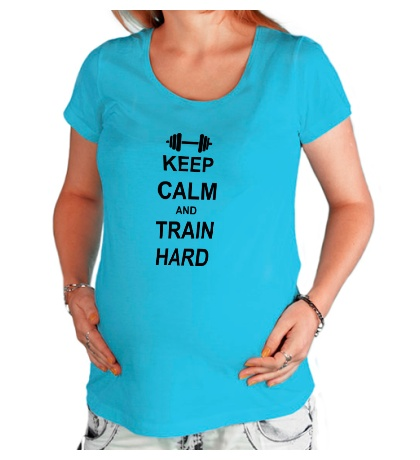 Футболка для беременной «Keep calm and train hard»