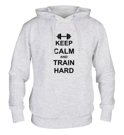 Толстовка с капюшоном «Keep calm and train hard»