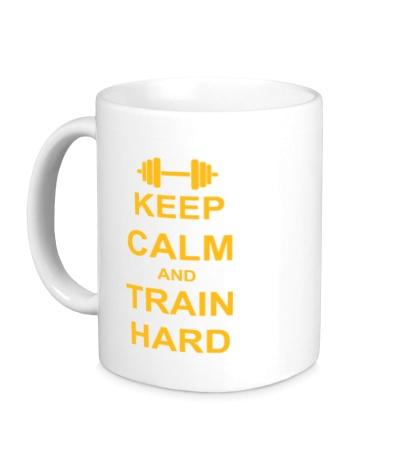 Керамическая кружка Keep calm and train hard