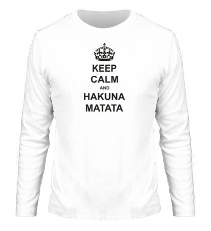 Мужской лонгслив «Keep calm and hakuna matata»