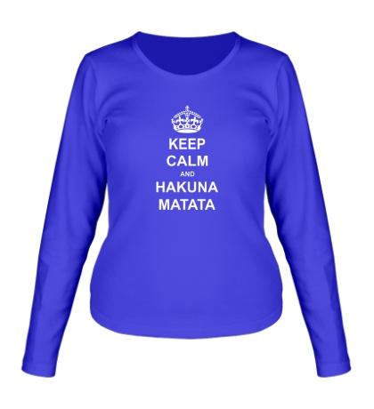 Женский лонгслив Keep calm and hakuna matata