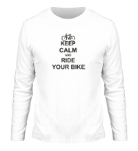 Мужской лонгслив Keep calm and ride your bike