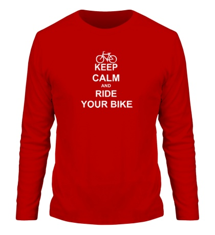 Мужской лонгслив Keep calm and ride your bike