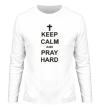Мужской лонгслив Keep Calm & Pray Hard