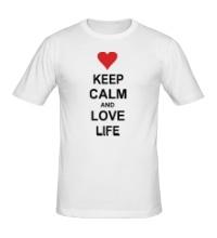Мужская футболка Keep calm and love life