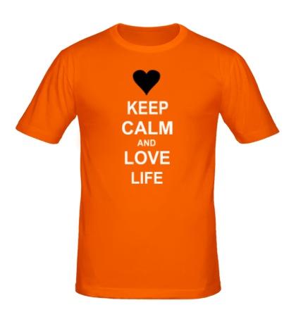 Мужская футболка «Keep calm and love life»