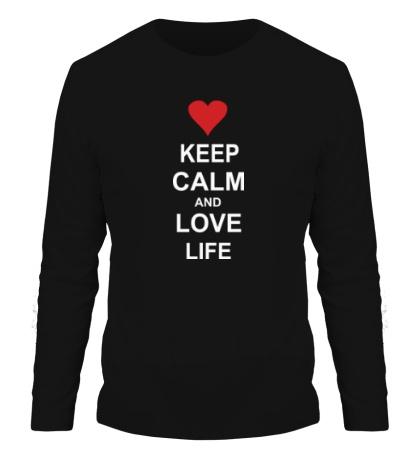 Мужской лонгслив Keep calm and love life