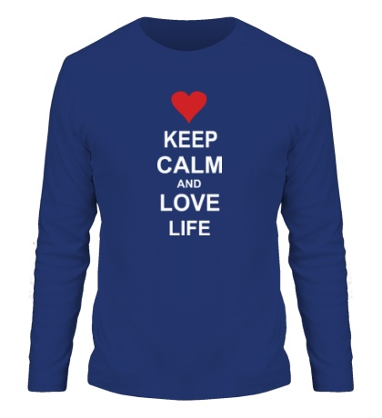 Мужской лонгслив Keep calm and love life