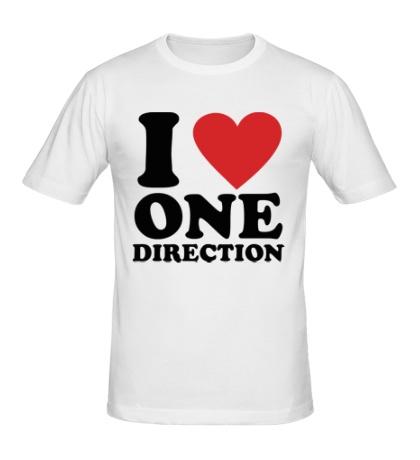 Мужская футболка «I love One Direction»