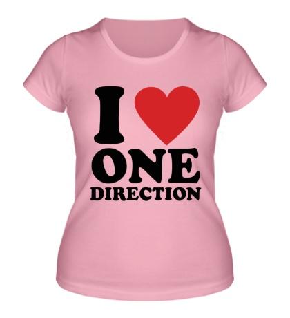 Женская футболка I love One Direction