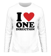Мужской лонгслив I love One Direction