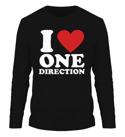 Мужской лонгслив I love One Direction