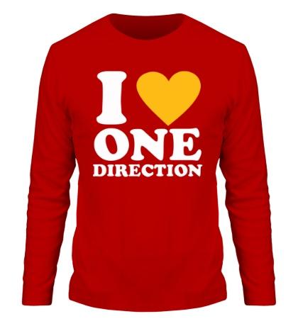 Мужской лонгслив «I love One Direction»
