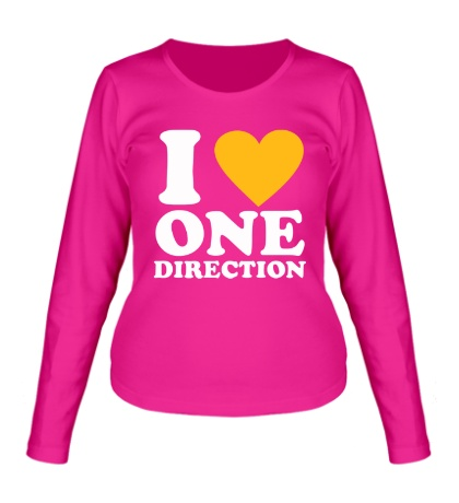 Женский лонгслив I love One Direction