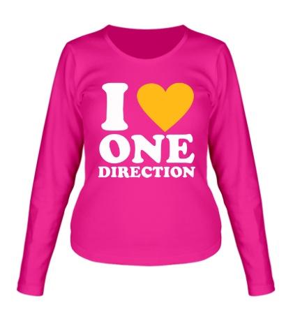 Женский лонгслив «I love One Direction»