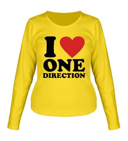 Женский лонгслив I love One Direction