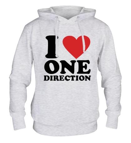 Толстовка с капюшоном I love One Direction