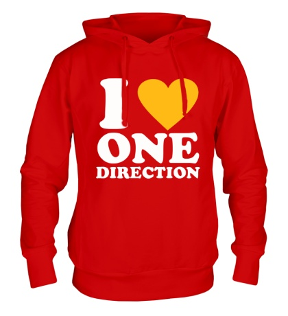 Толстовка с капюшоном «I love One Direction»