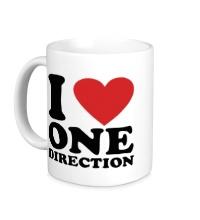 Керамическая кружка I love One Direction