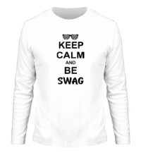 Мужской лонгслив Keep Calm & Be Swag
