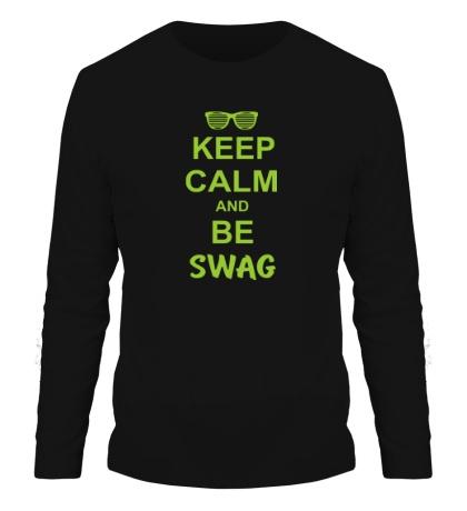 Мужской лонгслив Keep Calm & Be Swag