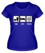 Женская футболка «Еда, сон и Volvo» - Фото 1