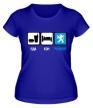 Женская футболка «Еда, сон и Peugeot» - Фото 1