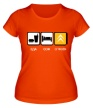 Женская футболка «Еда, сон и Citroen» - Фото 1