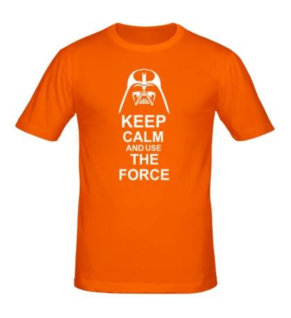 Мужская футболка Keep calm and use the force