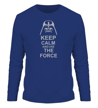 Мужской лонгслив «Keep calm and use the force»