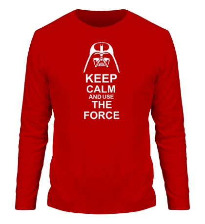 Мужской лонгслив Keep calm and use the force