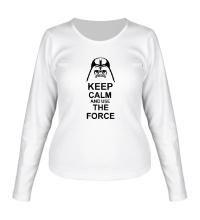 Женский лонгслив Keep calm and use the force