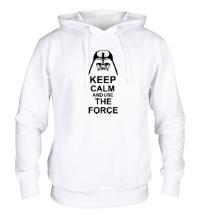 Толстовка с капюшоном Keep calm and use the force