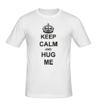 Мужская футболка Keep calm and hug me