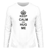 Мужской лонгслив Keep calm and hug me
