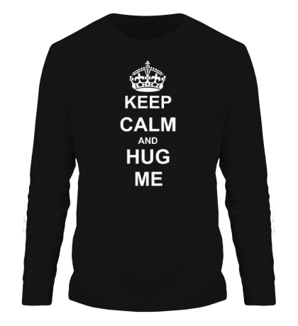 Мужской лонгслив Keep calm and hug me