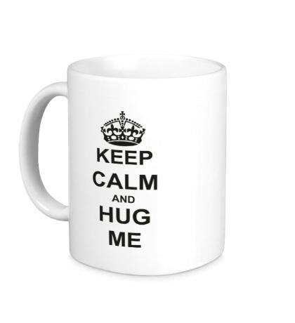 Керамическая кружка Keep calm and hug me