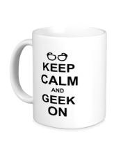Керамическая кружка Кeep calm and geek on