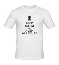 Мужская футболка Keep calm and a jedi will you be