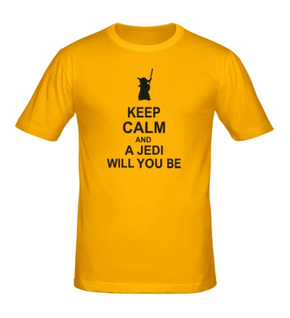 Мужская футболка Keep calm and a jedi will you be