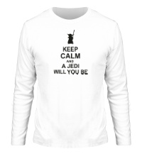 Мужской лонгслив Keep calm and a jedi will you be