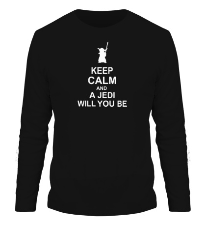 Мужской лонгслив Keep calm and a jedi will you be