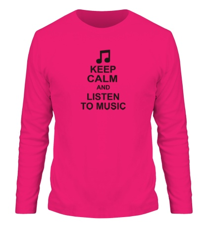 Мужской лонгслив Keep calm and listen to music