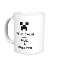 Керамическая кружка Keep calm and hug a creeper