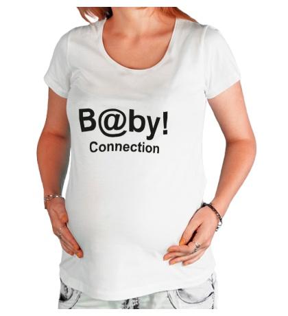 Футболка для беременной «Baby connection»