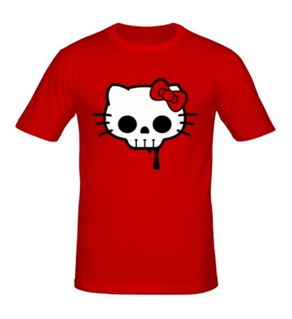 Мужская футболка «Китти череп»