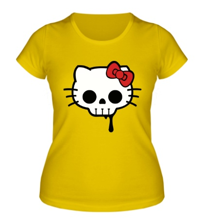 Женская футболка Китти череп