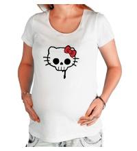 Футболка для беременной Китти череп