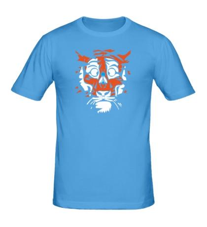 Мужская футболка «Тигр и муха»
